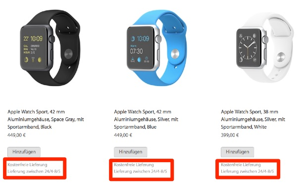 Apple Watch Shipping Times Limited Stock