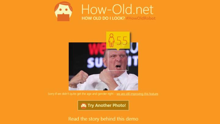 Microsoft How-Old.Net Website