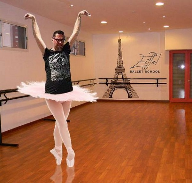 eifel tower photoshop ballet