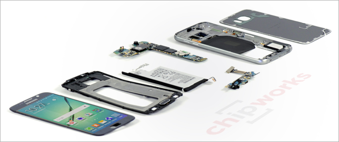 Galaxy S6 Teardown Exynos 7420 Chip