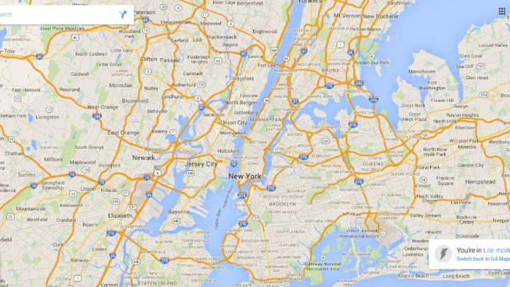 Google Maps Lite vs. Full