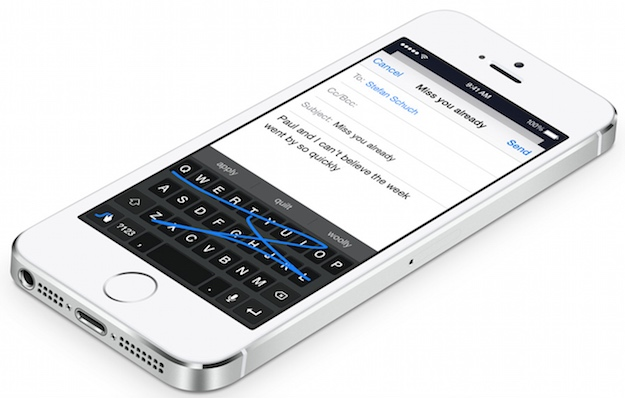 Apple iOS Virtual Keyboard