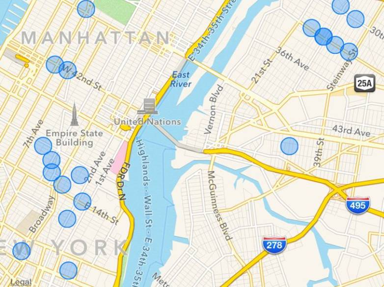 iPhone Location Tracking Map