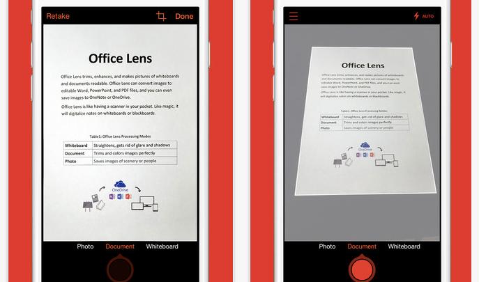 iPhone Office Lens App
