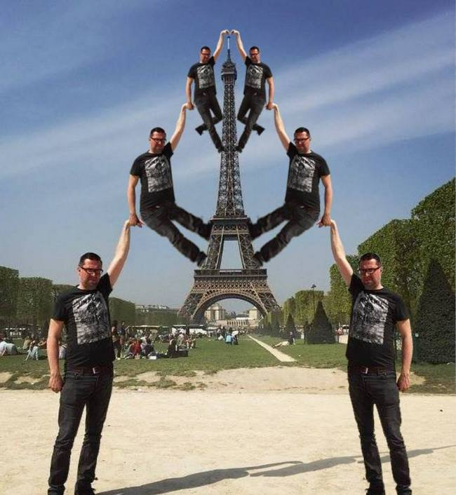 photoshop hilarious paris eifel tower