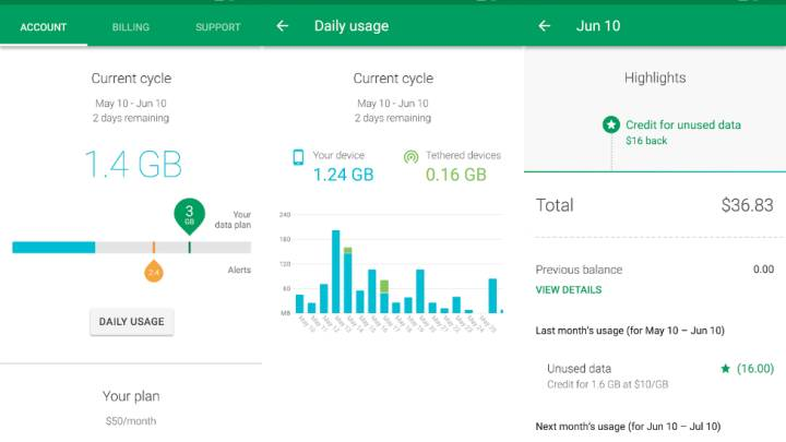 Google Project Fi Android App