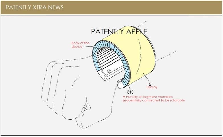 Samsung Patent Flexible Wrist Smartphone
