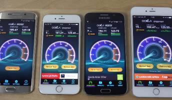 Galaxy S6 edge iPhone 6 Plus Wi-Fi Speed