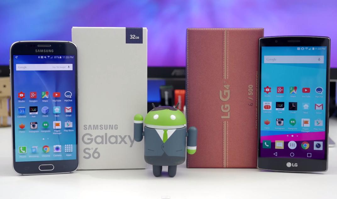 Samsung Galaxy S6 Vs. LG G4 Video