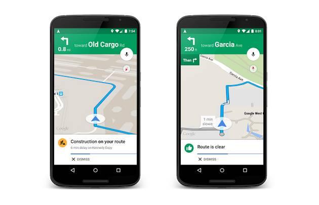 Google Maps Update Traffic Alerts