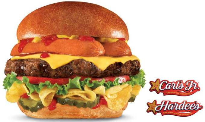 Hardee's Most American Thickburger Hot Dog