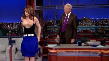 David Letterman Tina Fey Dress Video