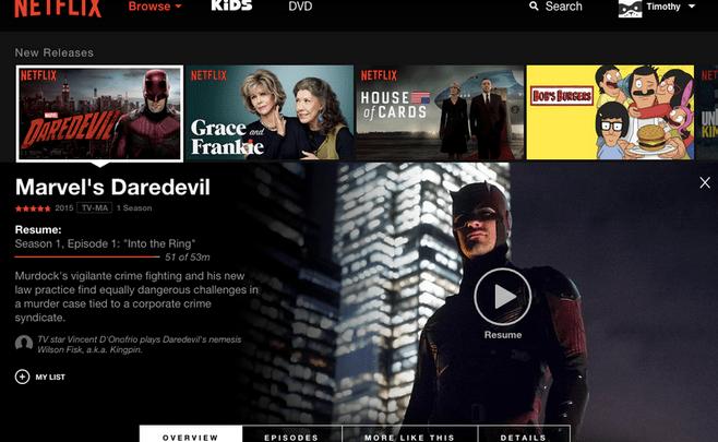 Netflix Redesign 2015