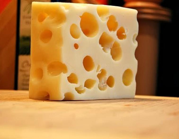 Block of swiss cheese