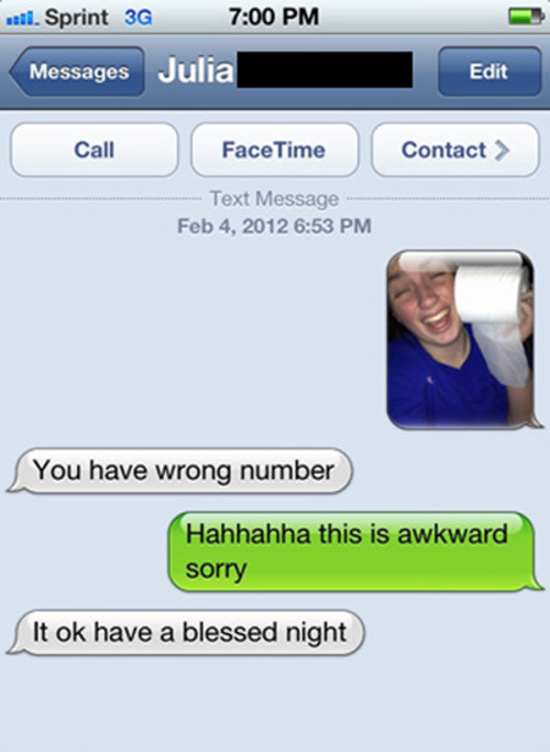 Funny Meme For Wrong Number : These are some of the most hilariously awkward wrong