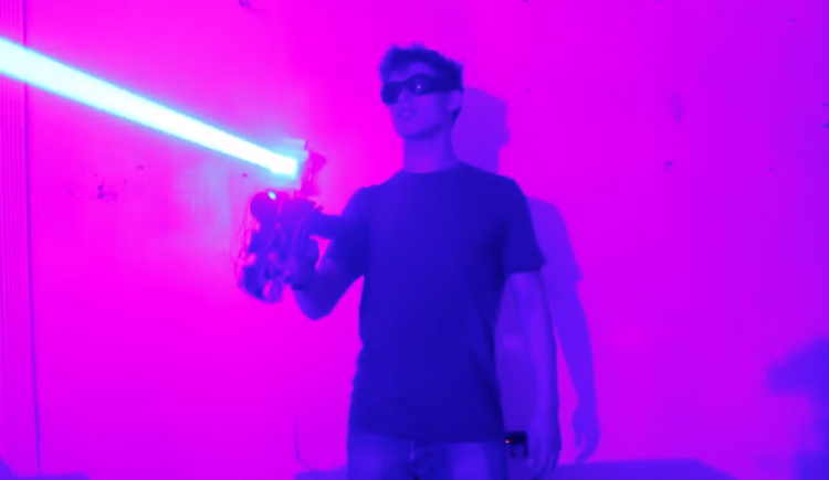Laser Shotgun Setting Things Fire Video