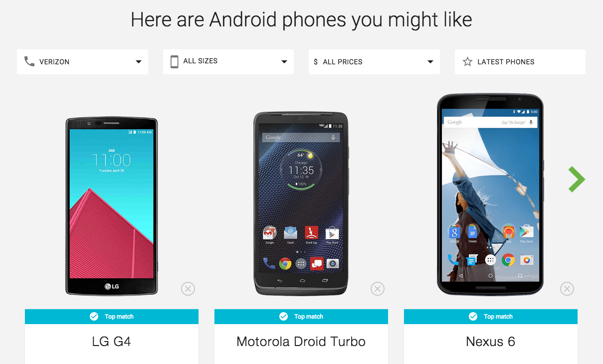 Phone Google Android Find Phone terrific new google website helps you find the android phone of your dreams bgr