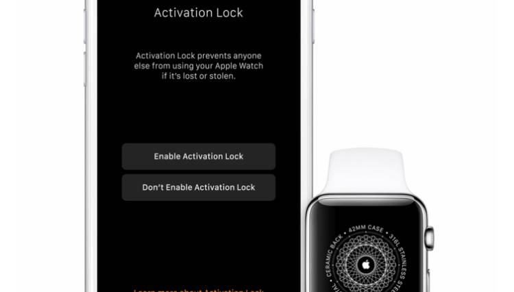 Apple Watch WatchOS 2 Activation Lock Security