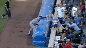 Cubs Dad Catches Foul Ball