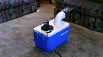 DIY Air Conditioner Cooler Fan PVC