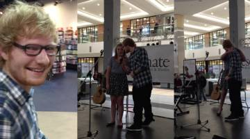 Ed Sheeran Thinking Out Loud Mall Performance