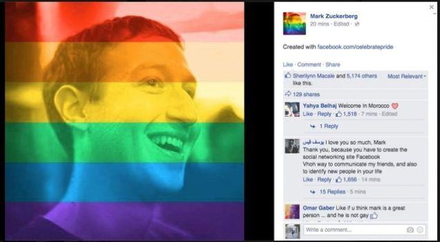 Facebook Rainbow Profile Picture