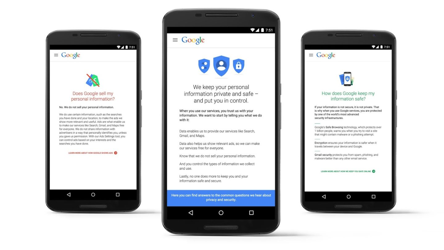 Google My Account Privacy Settings