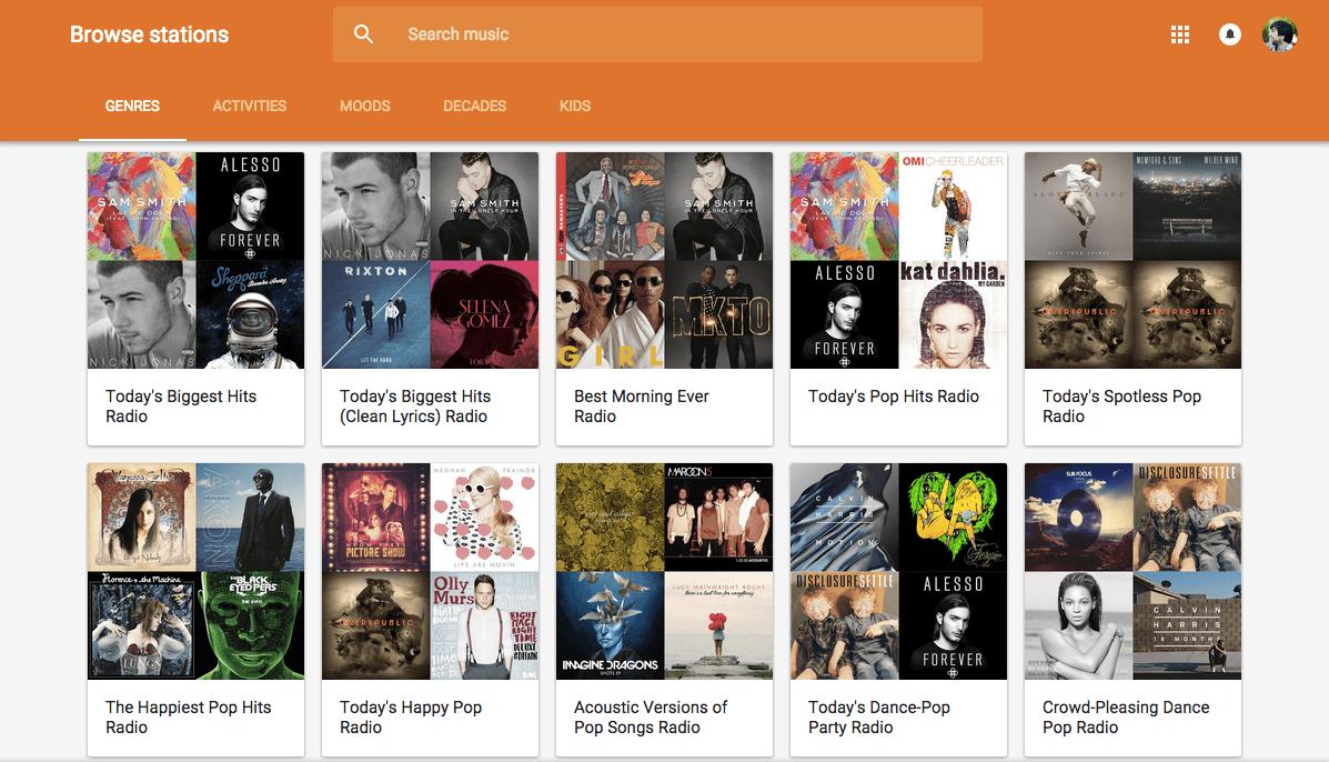 Google Play Music Free Radio