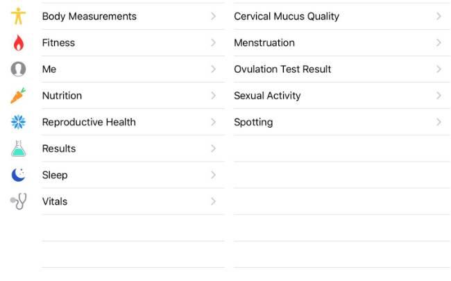 iOS 9 Health App Features Sex Pregnancy Menstruation