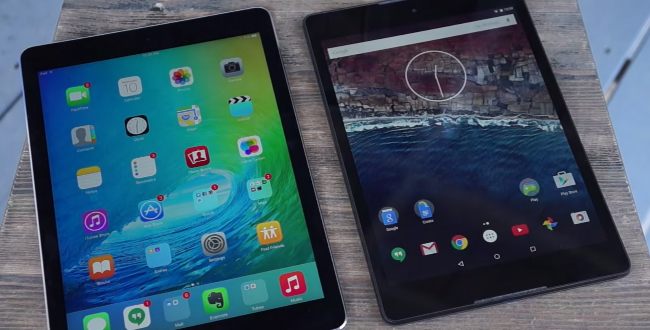 iOS 9 Android M iPad Air 2 Nexus 9 Video