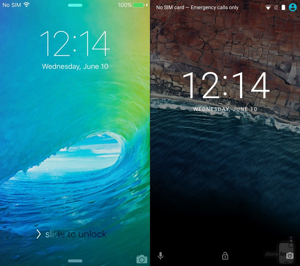 iOS 9 Android M Features Comparison Pictures