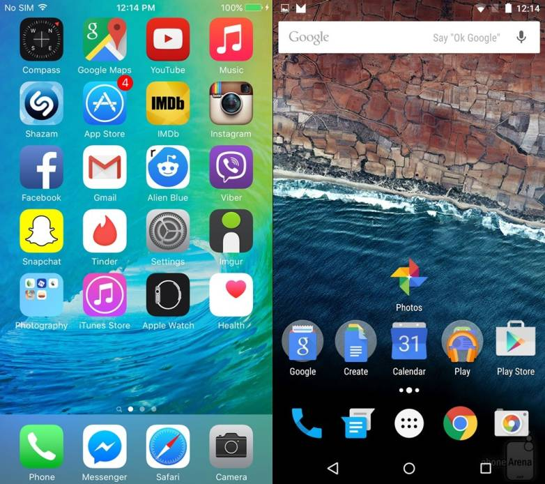 Android M vs. iOS 9