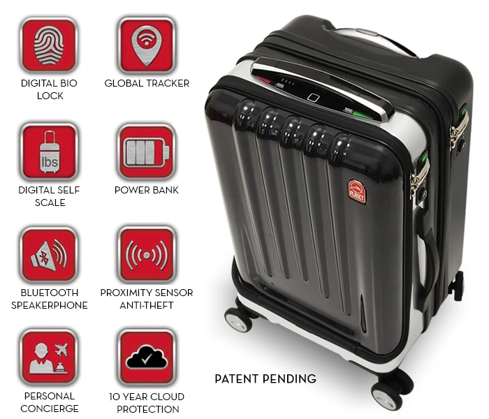iPhone Android Smart Luggage Space Case Kickstarter