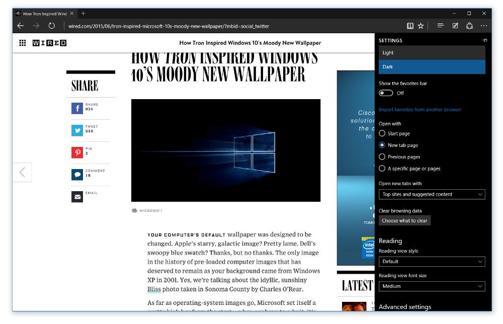 Windows 10 Build 10158 Microsoft Edge WiFi