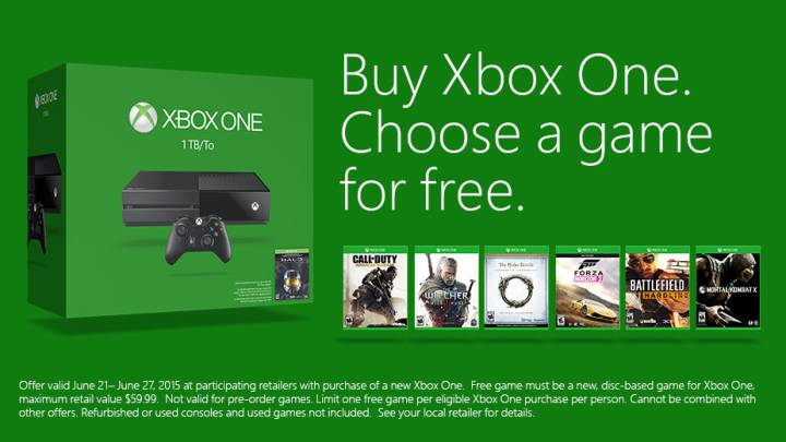 Xbox One Free Game Sale
