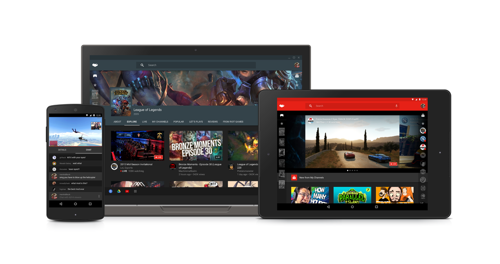 YouTube Gaming Game Streaming Service