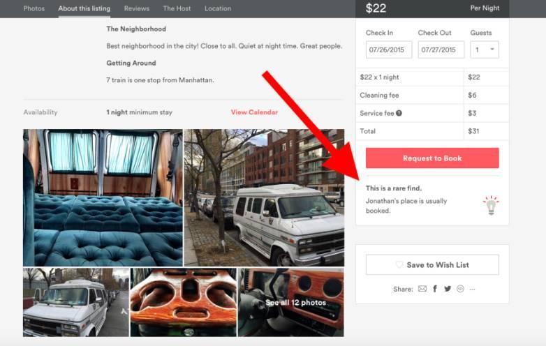 New York City Cheap Airbnb Van View