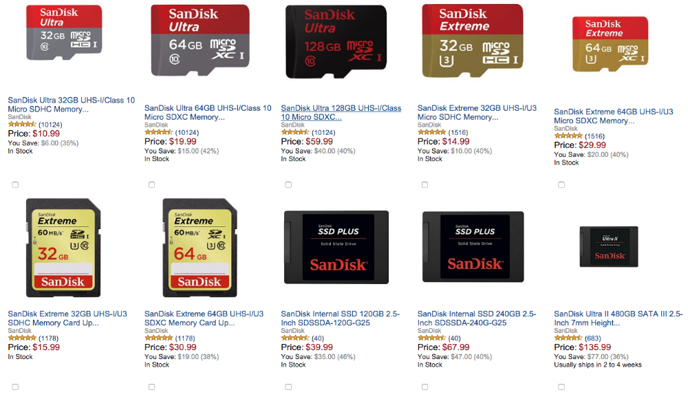 Amazon Gold Box Deal of the Day SanDisk Memory