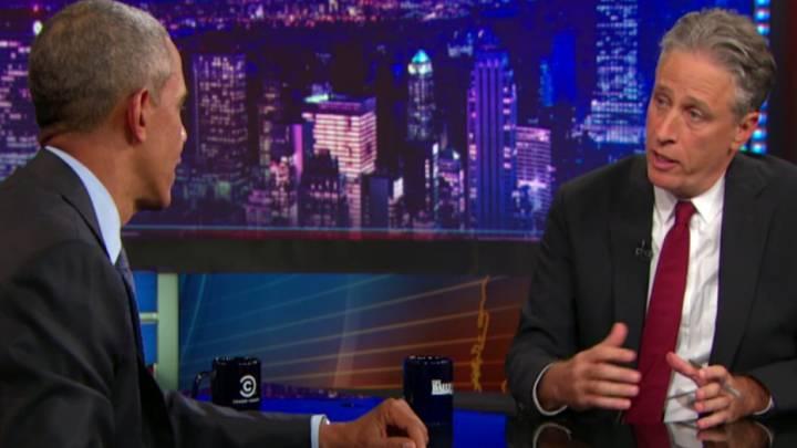 The Daily Show Jon Stewart Barack Obama