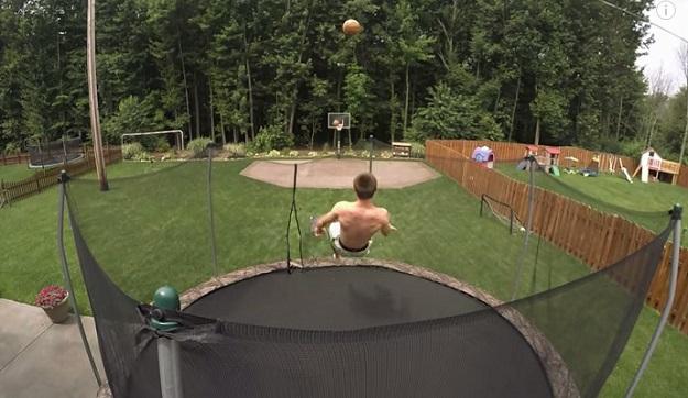 Basketball Trick Shot Trampoline