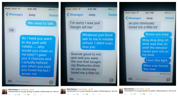 Hilarious Iphone Imessage Break Up Text Goes Viral On