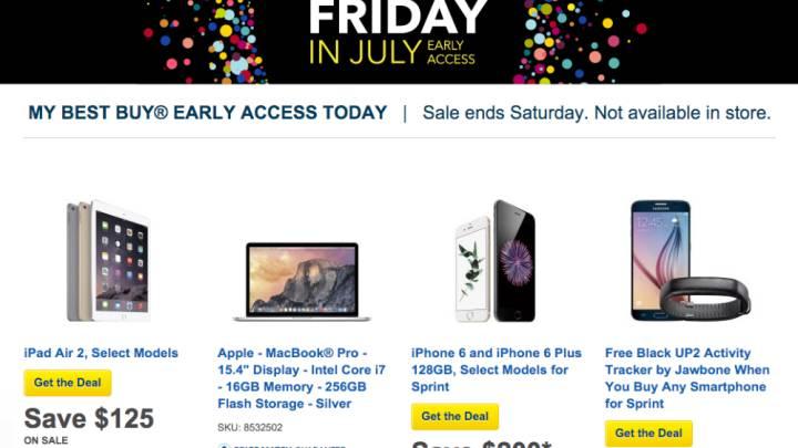 Best Buy Black Friday July Deals