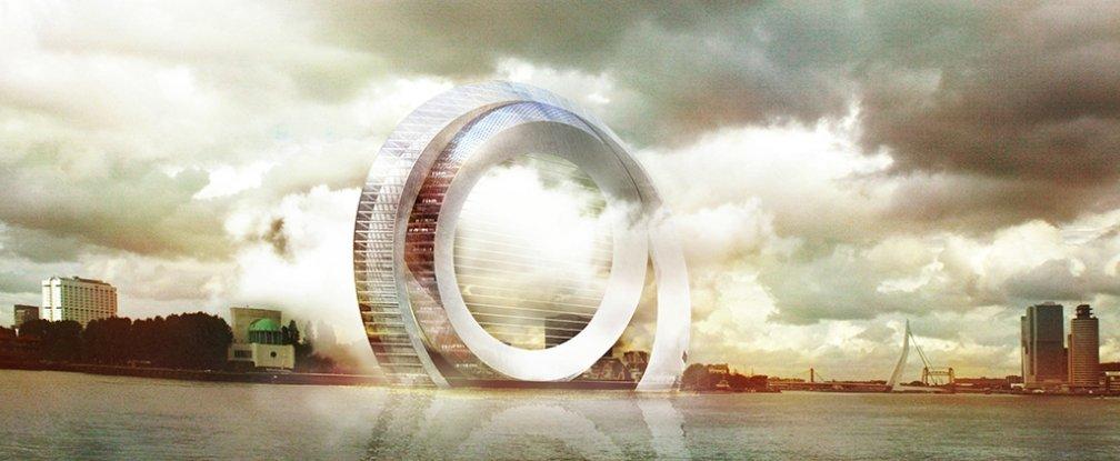 Dutch Windwheel Building Rotterdam