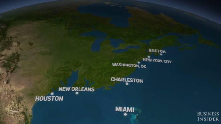 Global Warming Ice Melting Ocean Levels USA