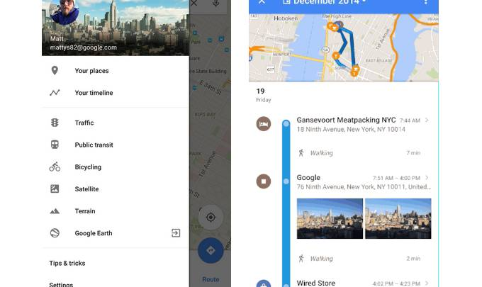 Google Maps Your Timeline History