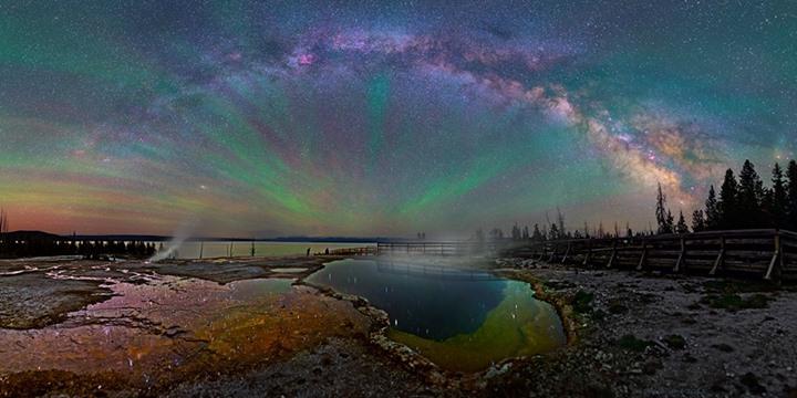 Milky Way Night Sky Photos Yellowstone