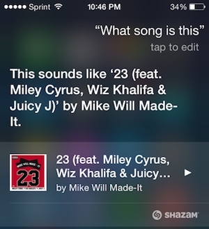 Siri what song is this feature