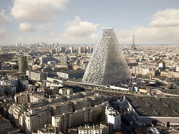 Paris Triangle Tower Skyscraper Project