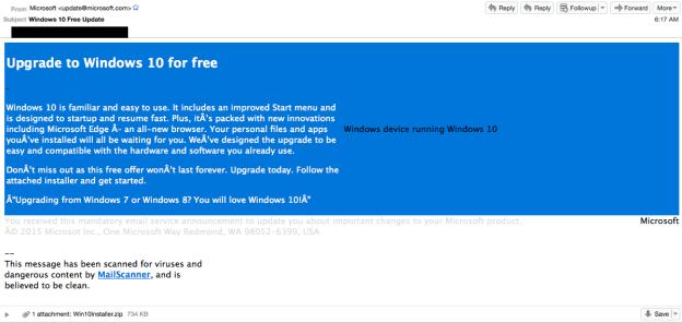 windows 10 ويندوز 10 windows-10-scam-emai