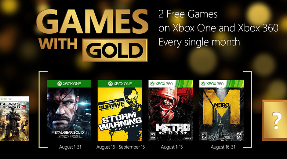 Xbox 360 Games With Gold : Xbox games with gold august g